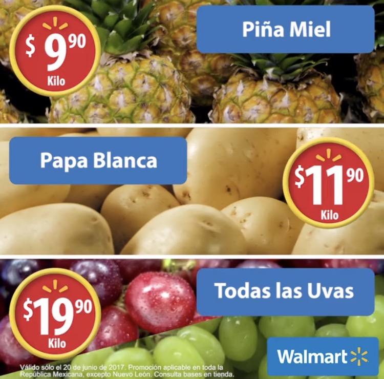 Martes de frescura en Walmart junio 20: todas las uvas a $19.90 el kilo y más