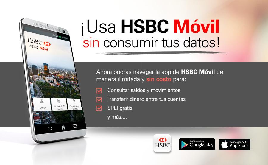 HSBC: Usa HSBC Móvil sin consumir tus datos