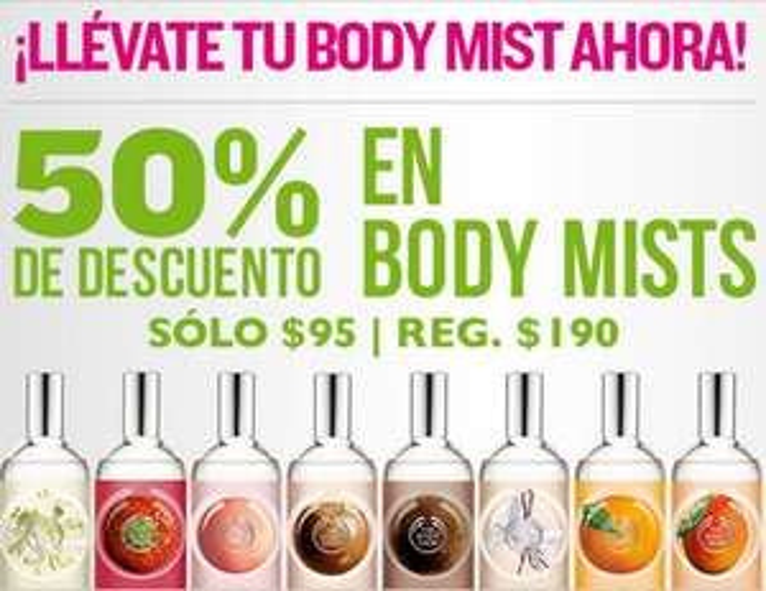The Body Shop: 50% de descuento en Body Mists