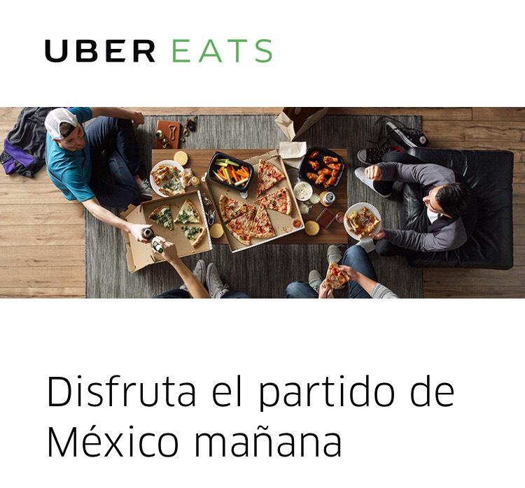UberEats: envío gratis en pedidos de $300 ó más (del 21 al 24 de junio)