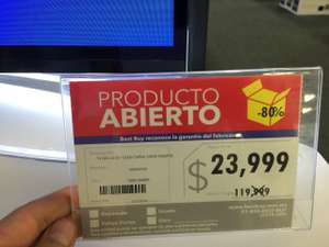 Best Buy: Pantalla 55' oled ultra delgada exhibición $23,999 (regular $120,000)