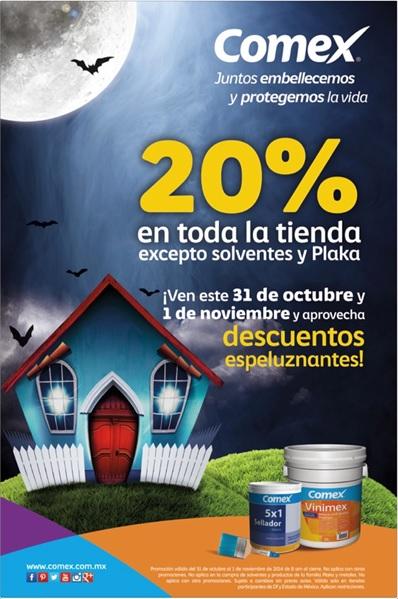 Comex: venta especial 20% en toda la tienda + 6 MSI con Banamex en tiendas seleccionadas DF y EdoMex