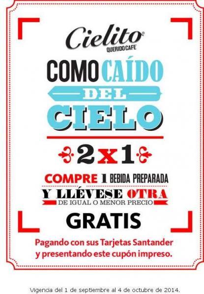 Cielito Querido: 2x1 en bebidas con Santander