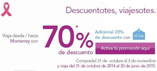 Volaris: 70% de descuento desde/hacia Monterrey