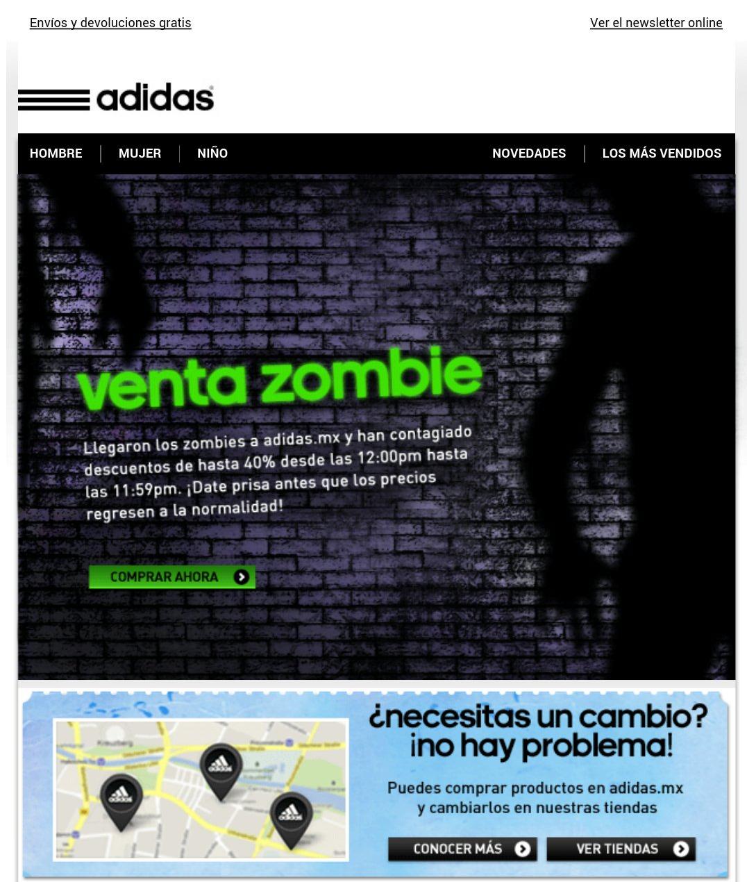 ADIDAS - Llego la venta zombie con hasta 40% de descuento