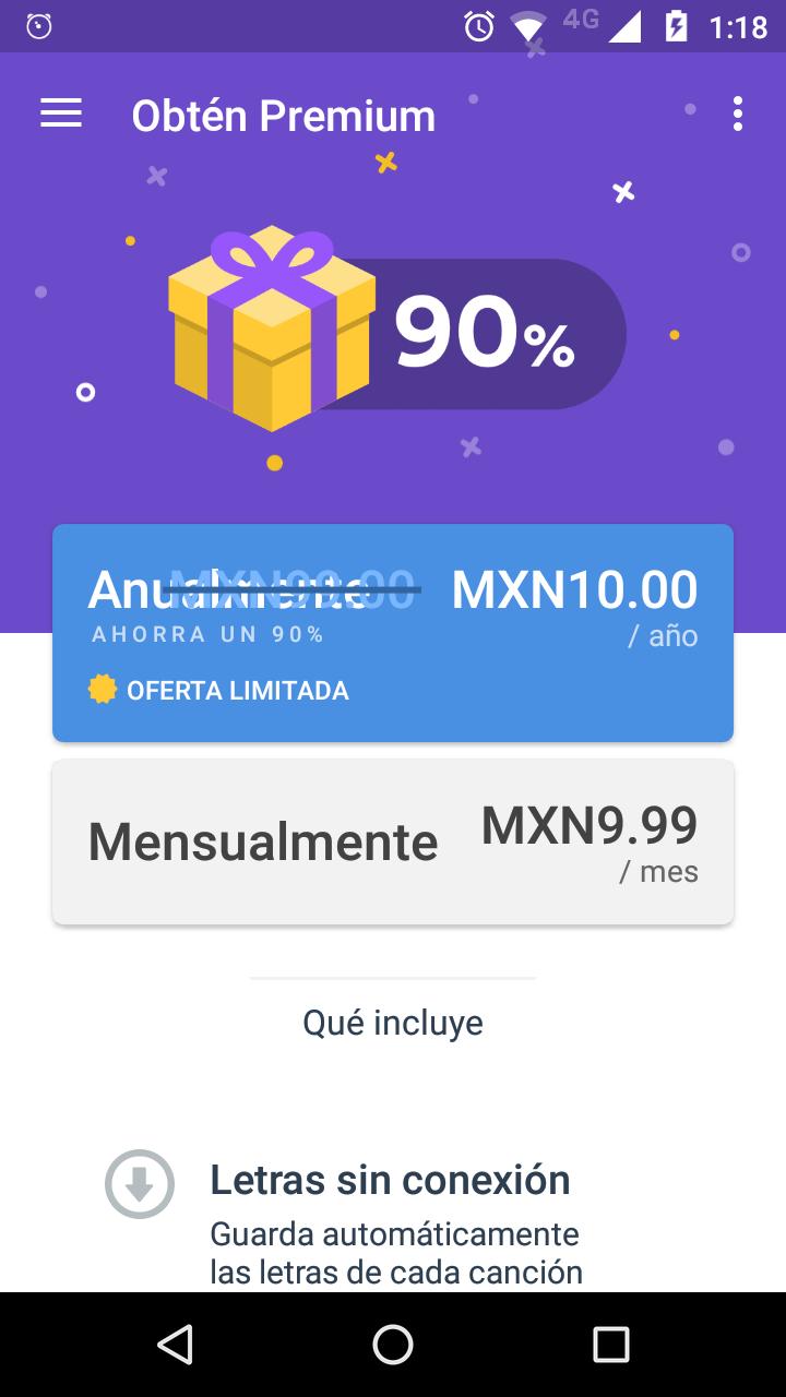Google Play: Musixmatch premium al 90% en suscripción anual