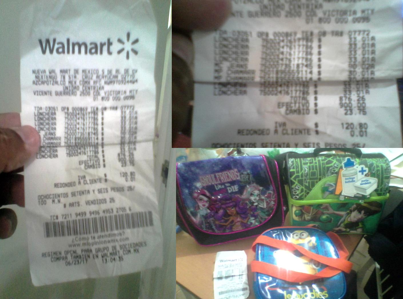 Walmart:  Lonchera Minions, Ben 10 y Monster high  $33.01 MAS PROMOCONSEJO – URGENTE Chamarra con TRAMPA.