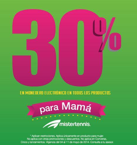 MisterTennis: 30% en monedero en artículos de mujer y boleto para partido de México con compra