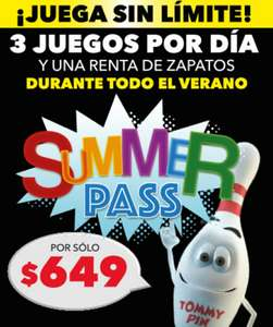 Boliches AMF: Summer Pass, Campamento de boliche hasta que te duelan los brazos // CDMX