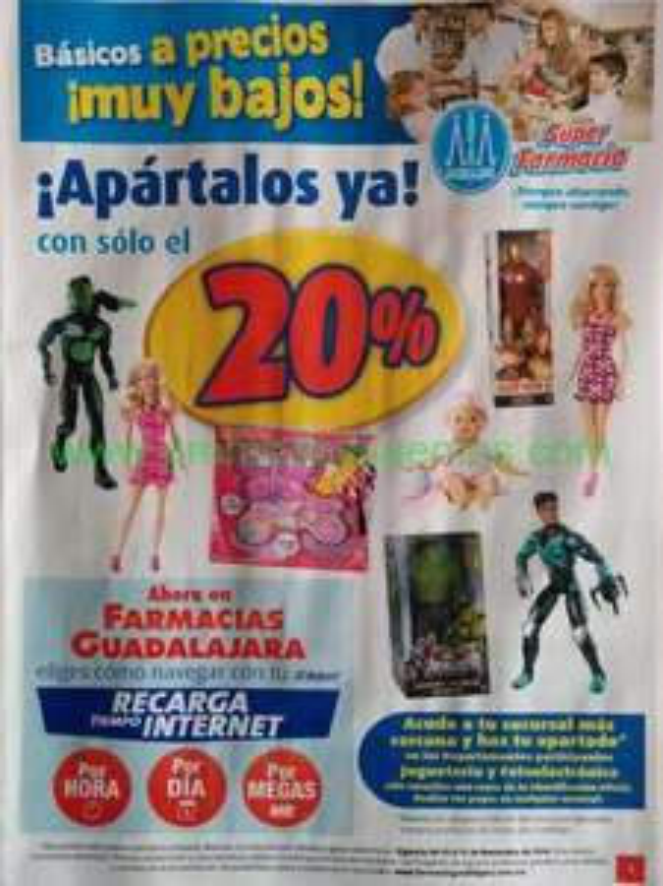 Folleto de ofertas en Farmacias Guadalajara del 1 al 15 de noviembre