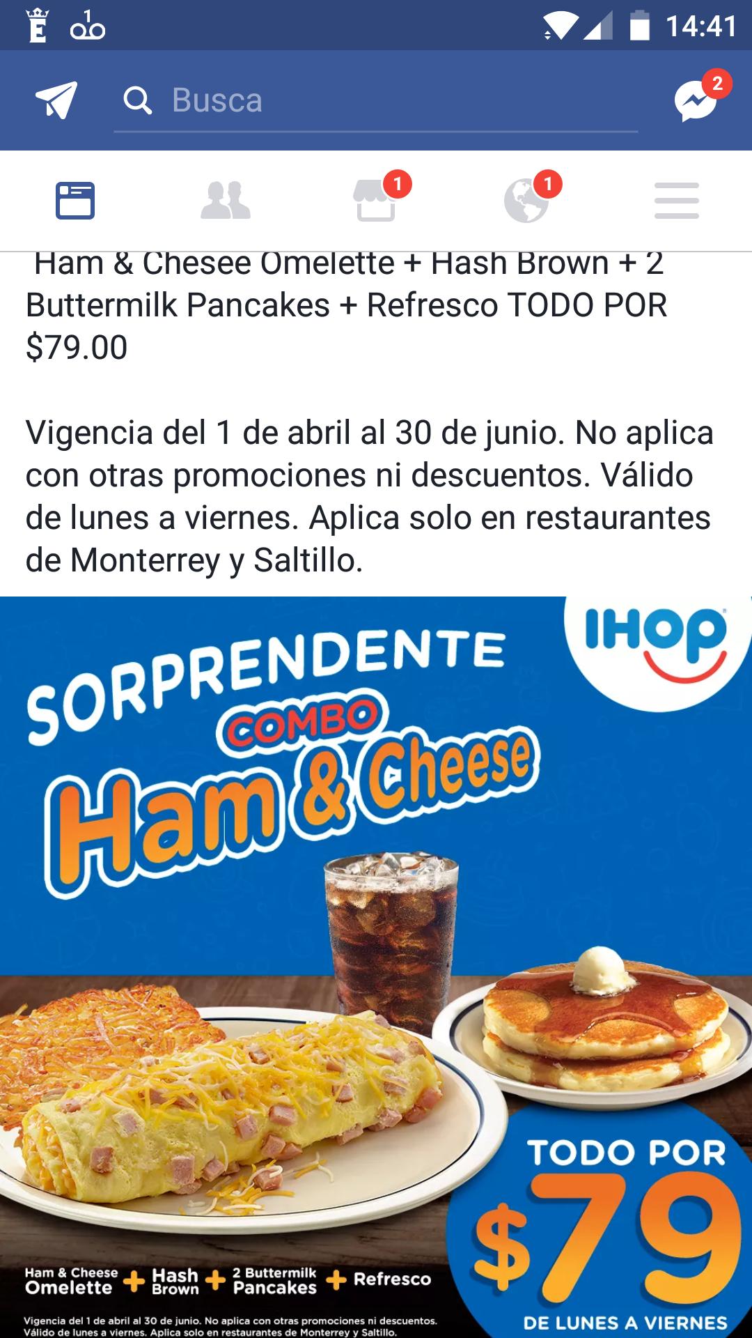 iHop: combo por 79 solo en Monterrey y Saltillo
