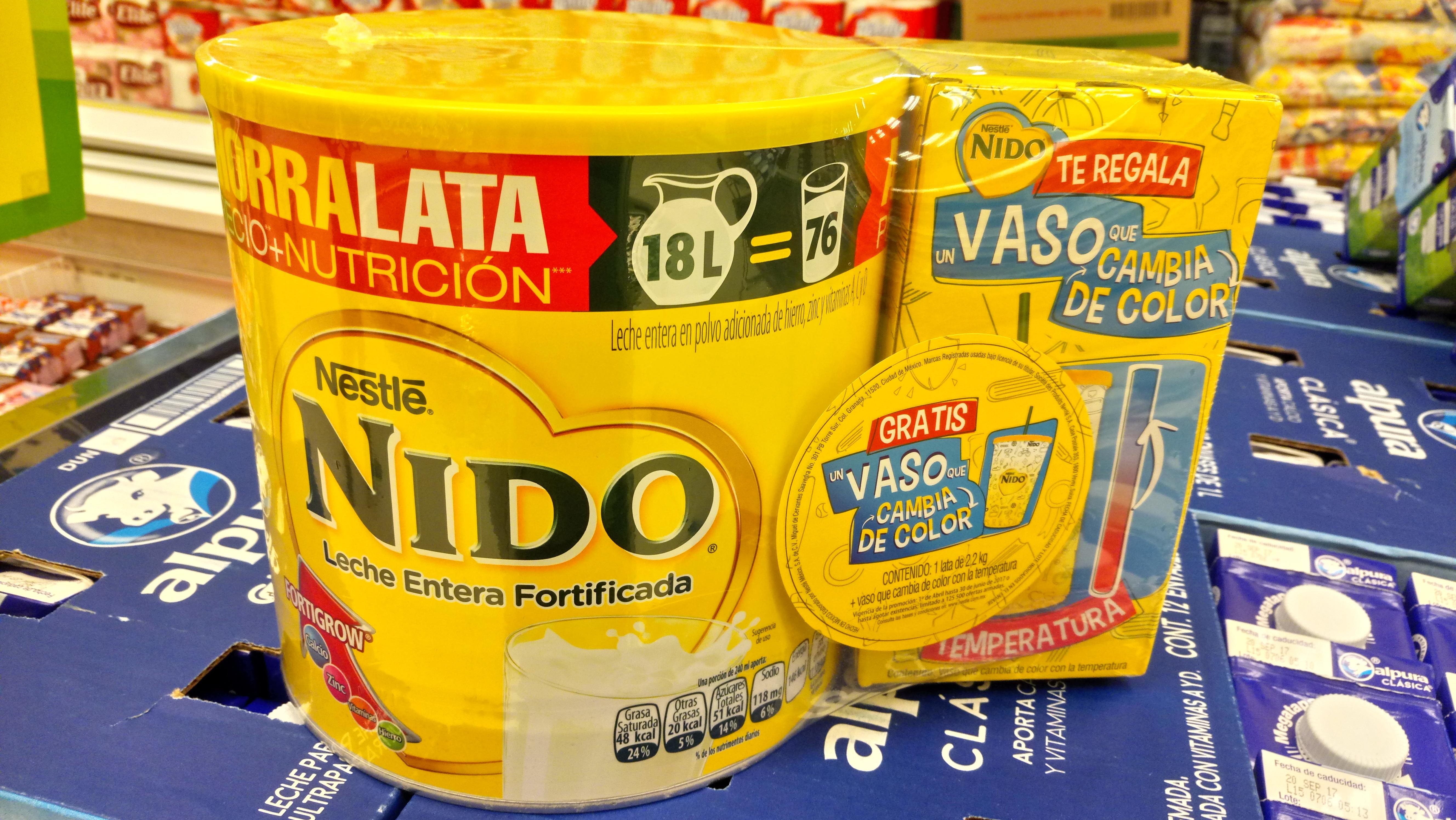 Soriana Hiper - Leche Nido Fortificada 2.2 kg +Vaso de regalo