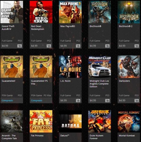 Venta Flash PlayStation Store: juegos a 5 dólares