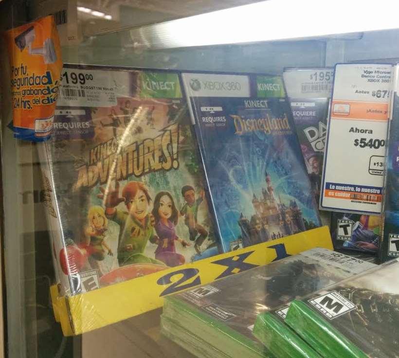 Chedraui: Kinect Adventures + Kinect Disneyland Adventures $199