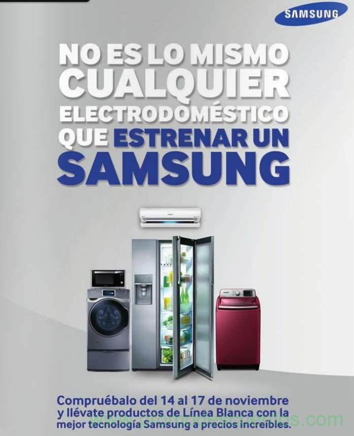 Ofertas del Buen Fin 2014 en línea blanca Samsung