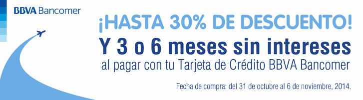 Interjet: 30% de descuento y meses sin intereses con Bancomer