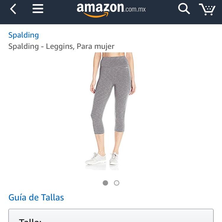 Amazon: Leggins Spalding talla M, aplica Prime