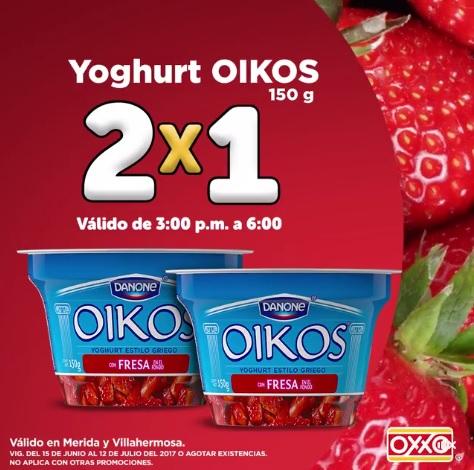 OXXO: 2 x 1 en Yogurt Oikos