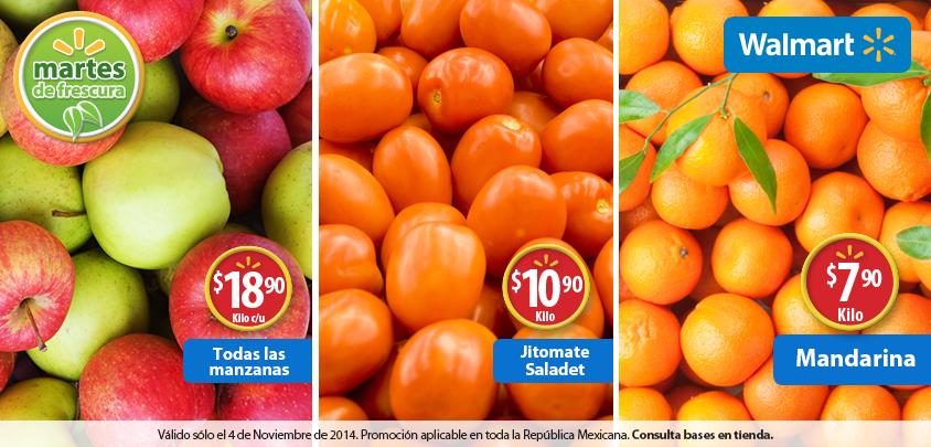 Martes de frescura en Walmart noviembre 4: manzanas $19 el kilo y más