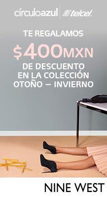 Descuento de $400 en la tienda en línea de Nine West México