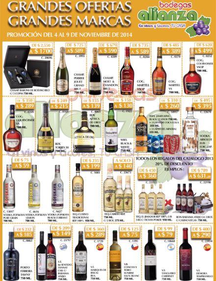 Bodegas Aliazna: champaña Möet $590, cognac VSOP desde $499 y más