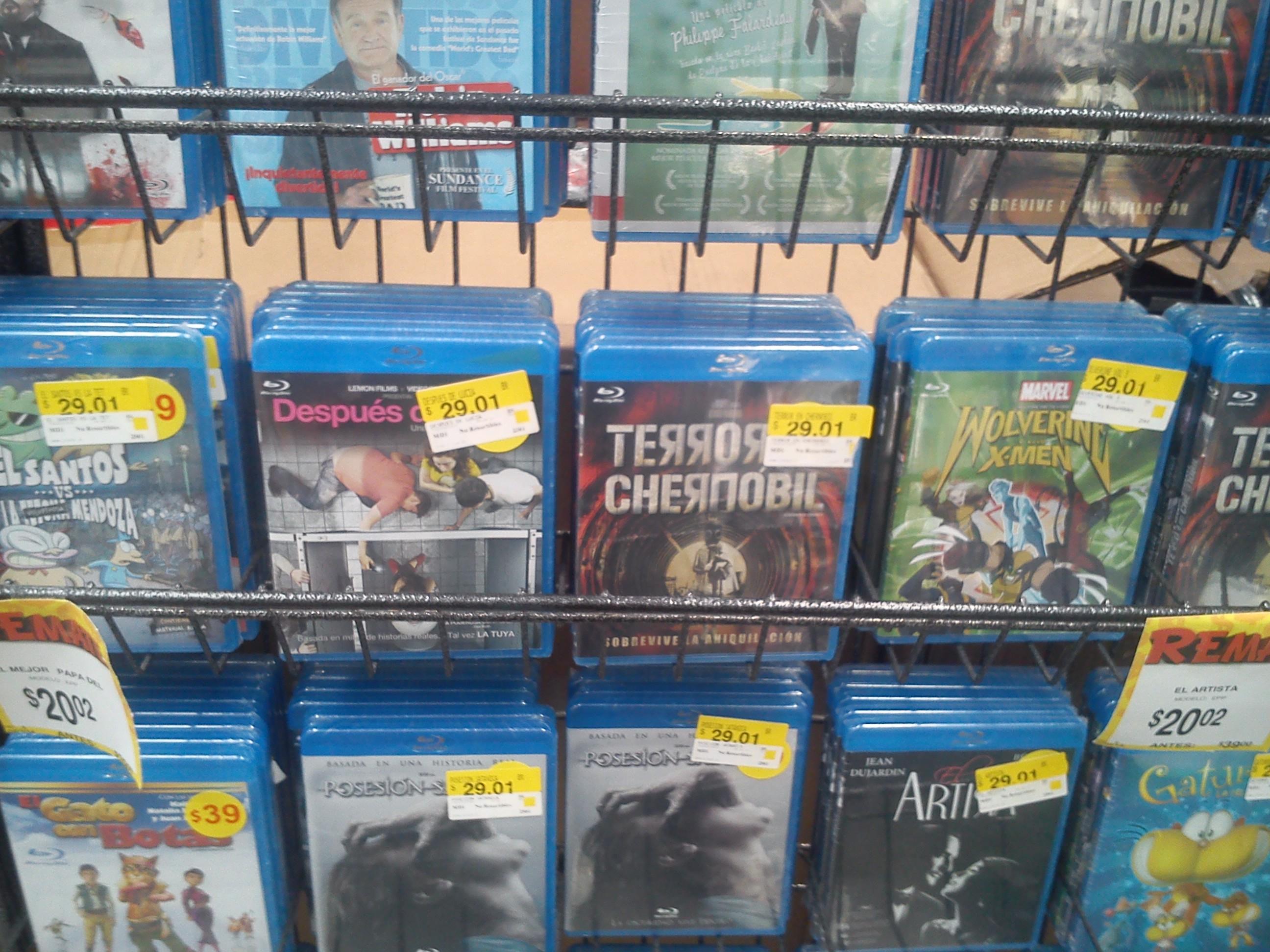 Bodega Aurrerá: Blu-Rays a $29.00 y $20