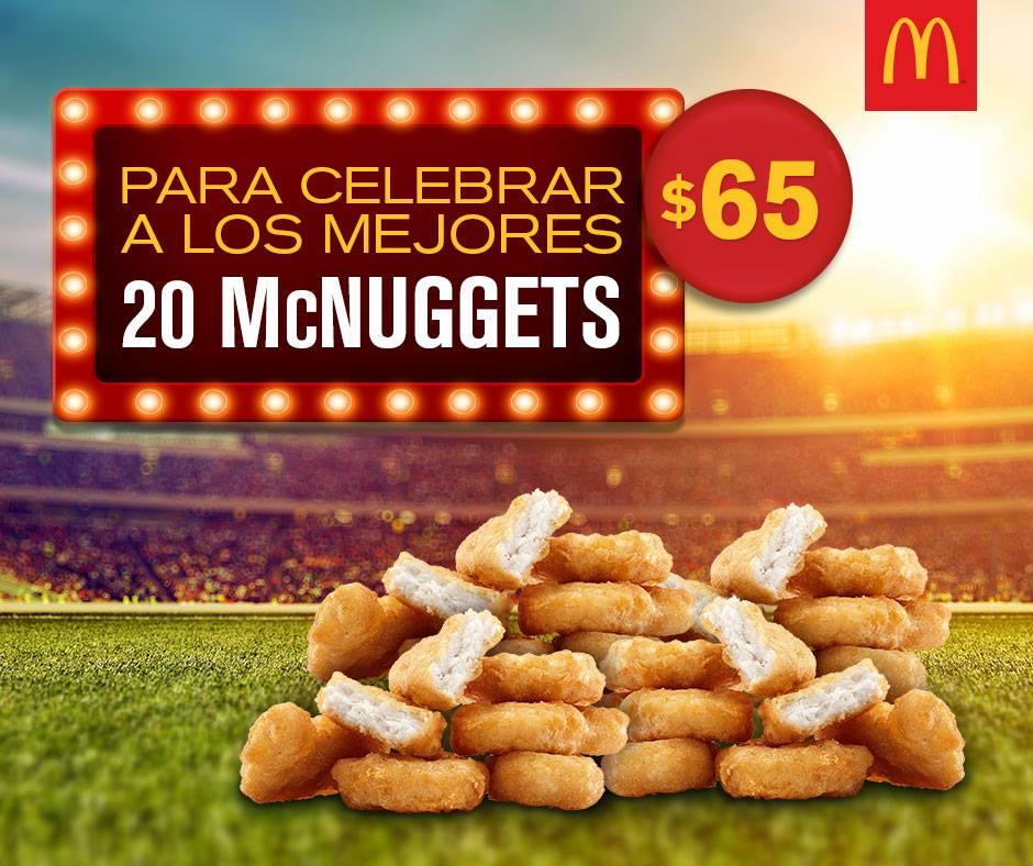 McDonald's: Cupón para 20 McNuggets por $65 solo el domingo 2 de julio
