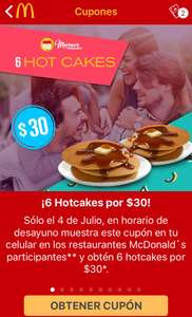 Martes de McDonald's: 6 Hot Cakes por $30 pesos