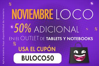 Linio: Cupón de 50% de descuento en outlet de Tablets