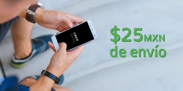 Uber Eats: baja la tarifa de envío de $40 a $25 por tiempo limitado