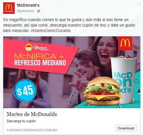 Martes de McDonald's: McNífica + Refresco