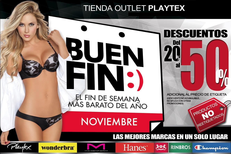 Ofertas del Buen Fin 2014 en tiendas outlet Playtex