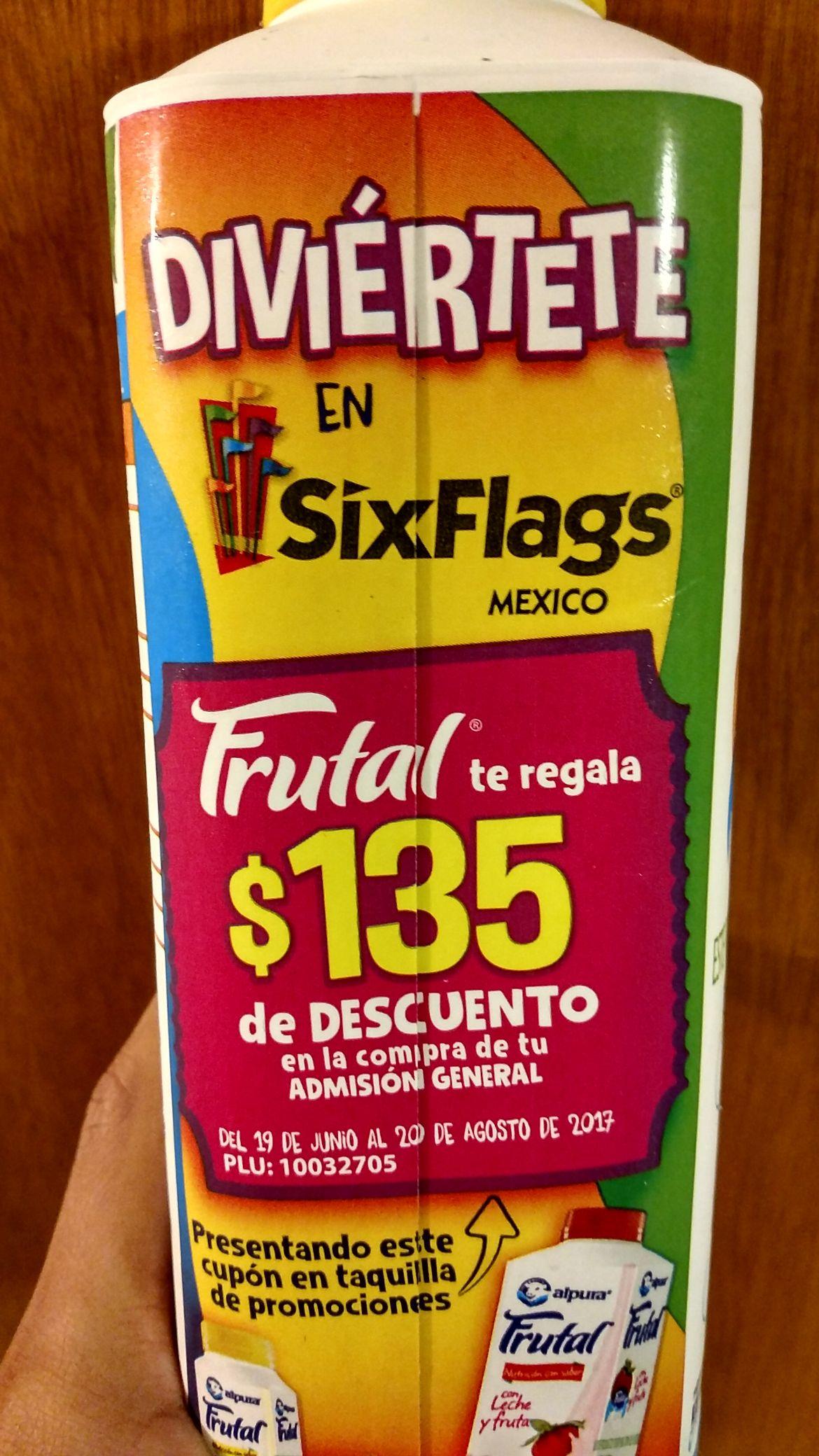 Six Flags: $135 pesos de descuento en entrada general comprando productos Alpura