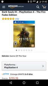 Amazon: Dark Souls 3 The Fire Fades Edition Game Of The Year para PS4 y Xbox One