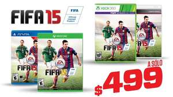 Gamers ofertas pre Buen Fin: FIFA 15 $499 hoy de 12 a 2 pm