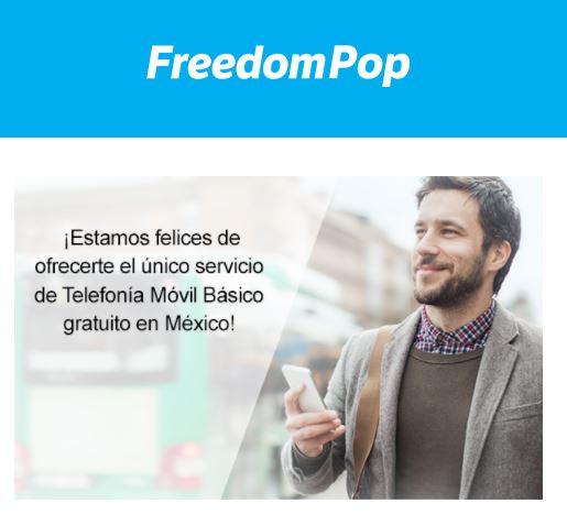 FreedomPop: Plan gratis 50min +50sms +100mb de por vida!
