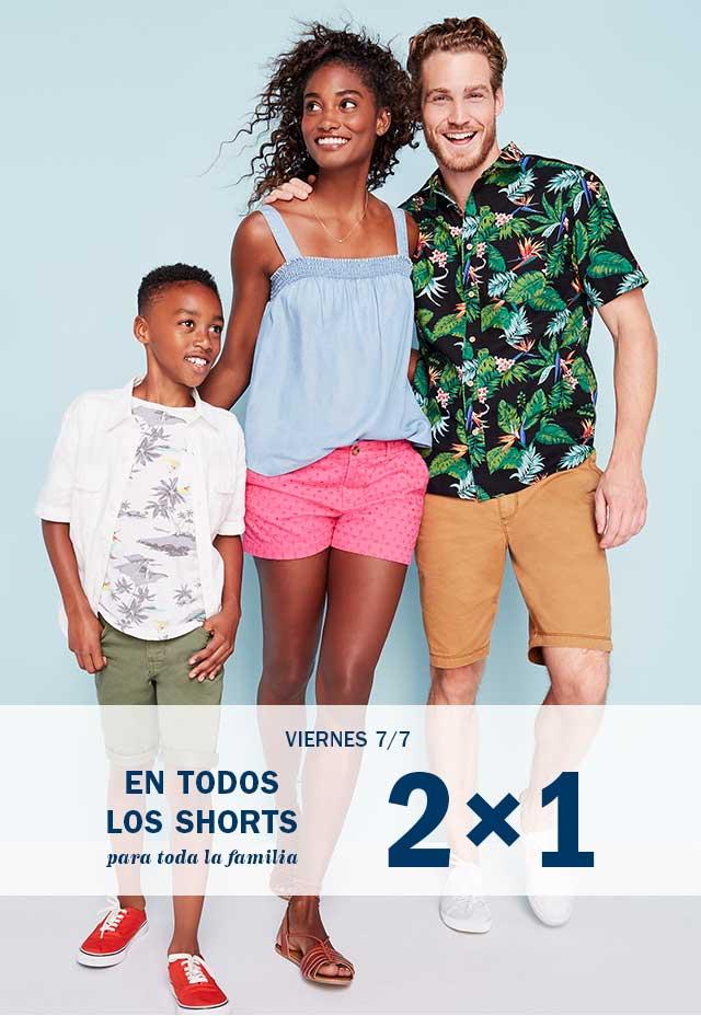 Old Navy: HOY 2x1 en shorts, fin de semana jeans adultos a $299, niños a $199