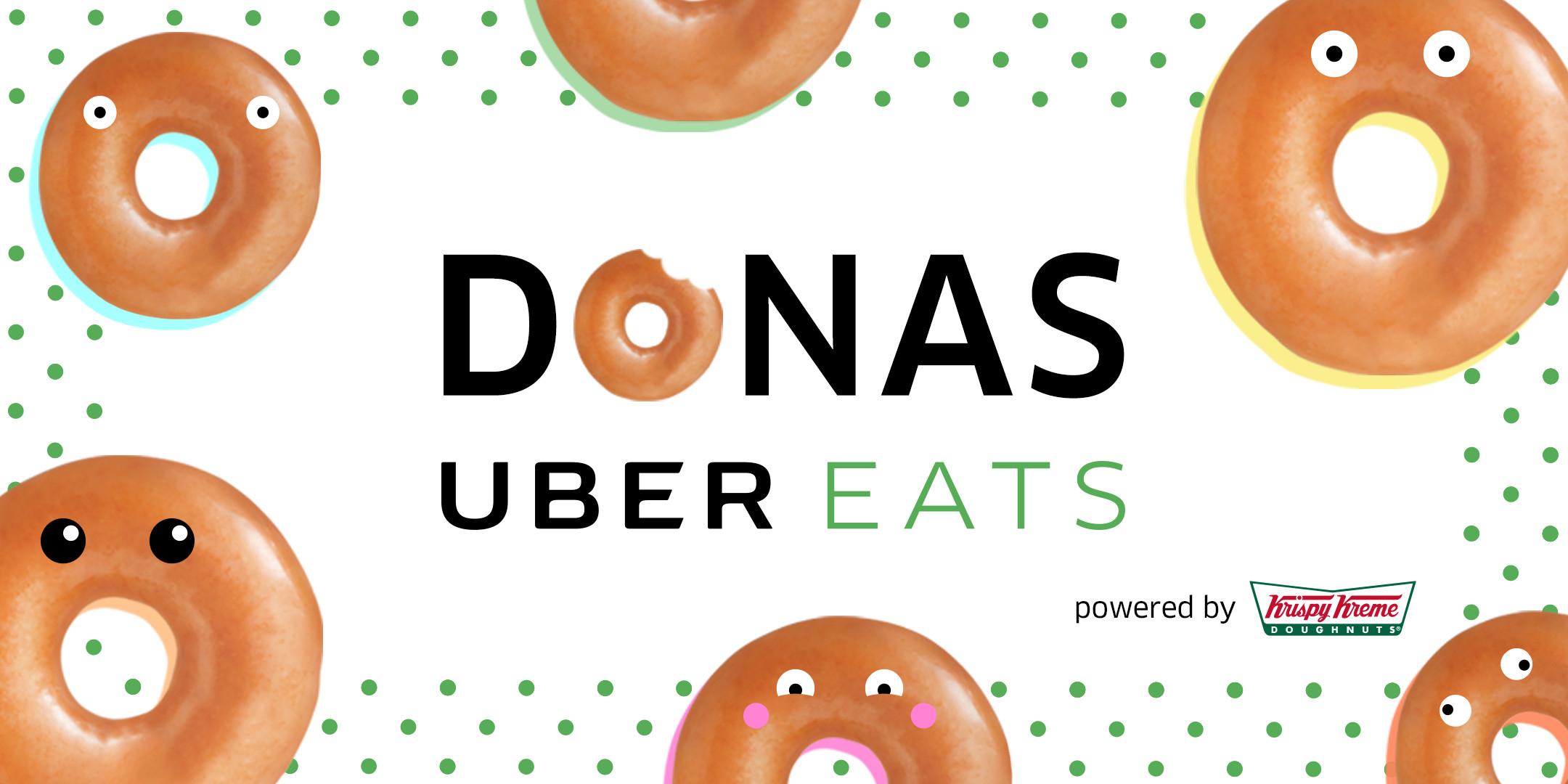 UberEATS y Krispy Kreme: quieren llevarte media docena de donas a la puerta de tu casa pagando solo el envío