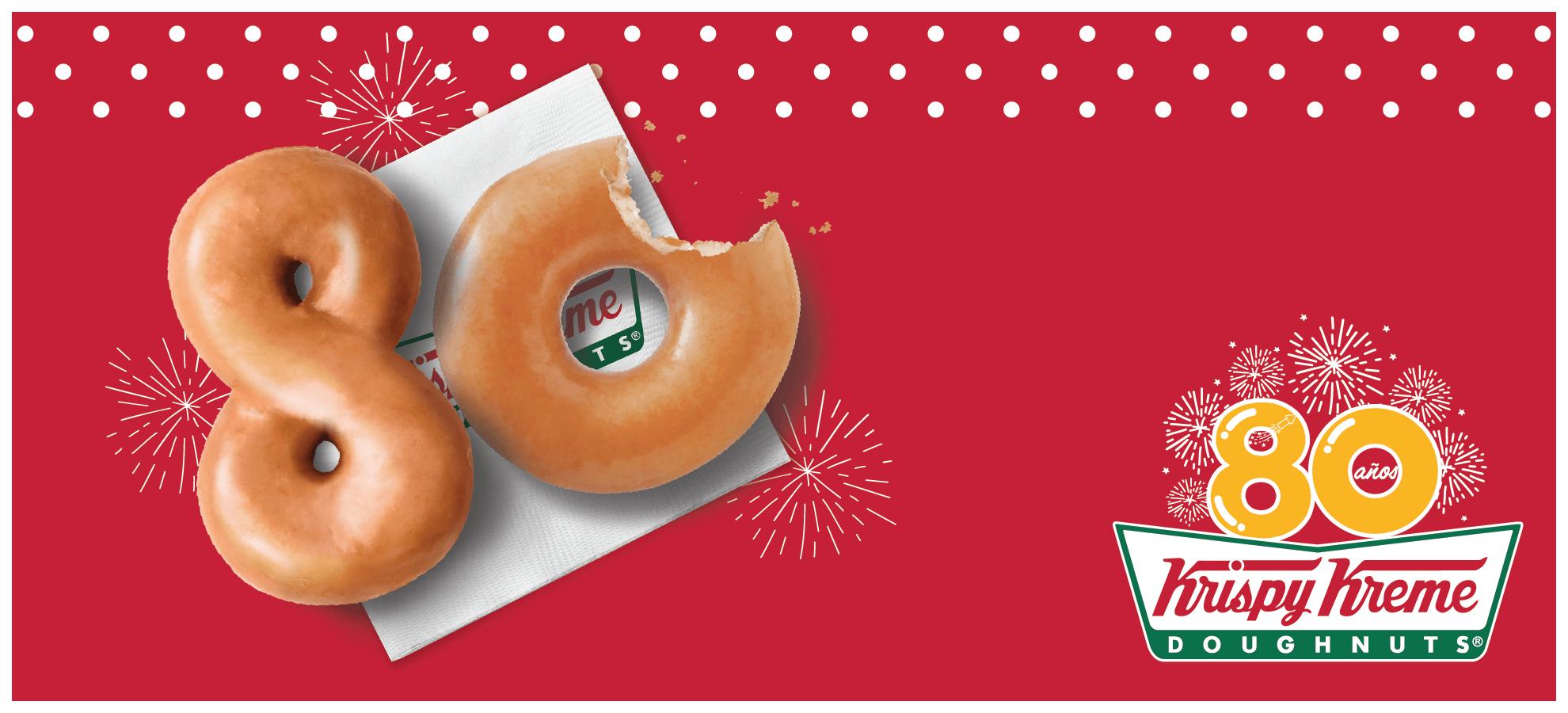 Krispy Kreme: Ofertas nacionales por su 80mo aniversario