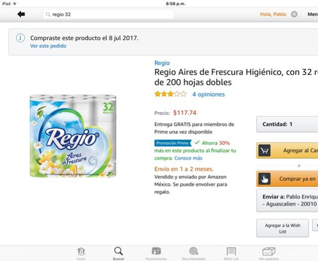 Amazon Prime Day 2017: Papel regio de 32 rollos baratísimo con el descuento