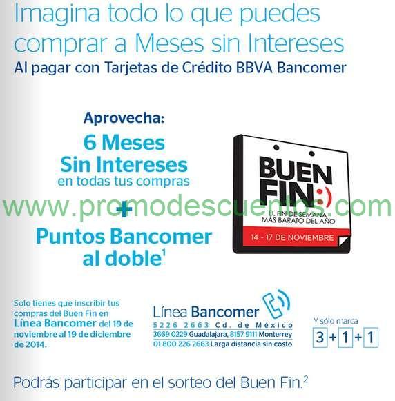 Promociones del Buen Fin 2014 con Bancomer