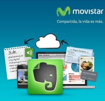 Evernote Premium gratis un año para clientes Movistar (regular $45 dólares)