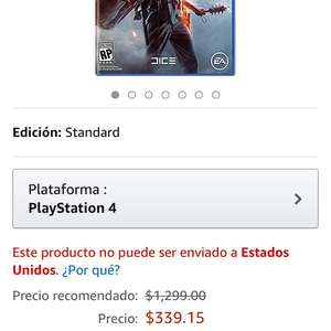 Amazon: Battlefield 1 Ps4 y Xbox One