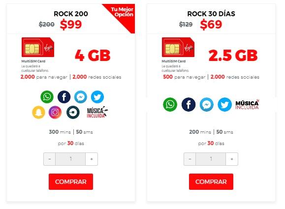 Virgin Mobile: chip virgin rock 30 dias