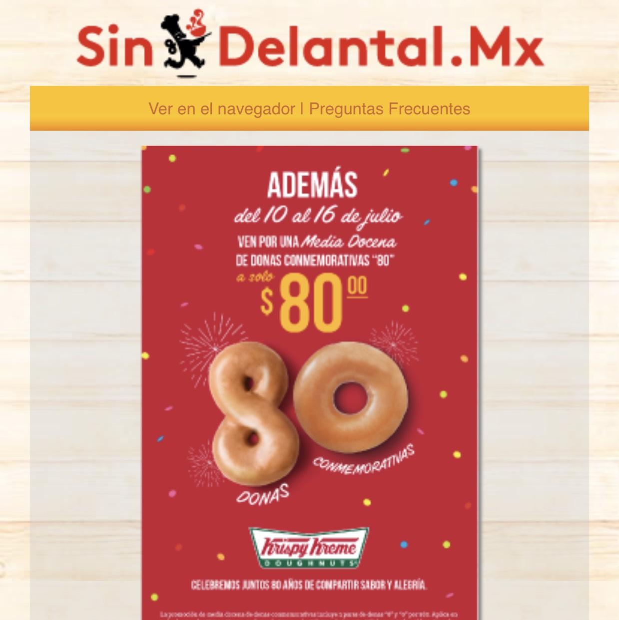 Sin Delantal : Media Docena de donas conmemorativas Krispy Kreme