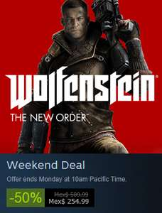 Wolfstein: The New Order (Steam) con 50% de descuento