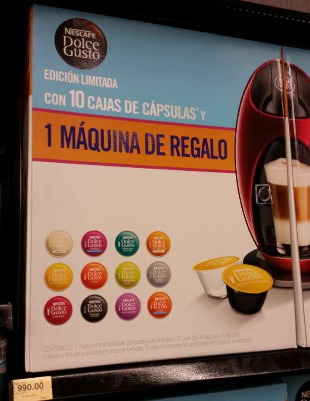 Superama: máquina y 10 cajas de Cápsulas Nescafe Dolce Gusto $990