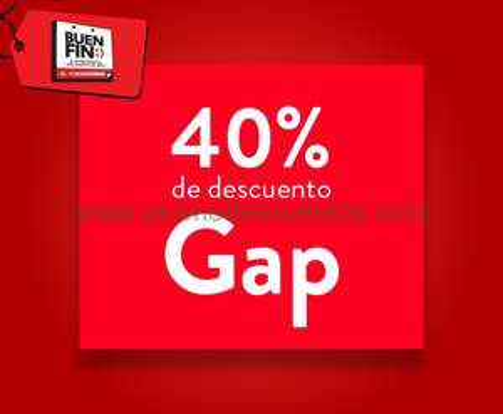 Ofertas del Buen Fin 2014 en Gap: 40% de descuento