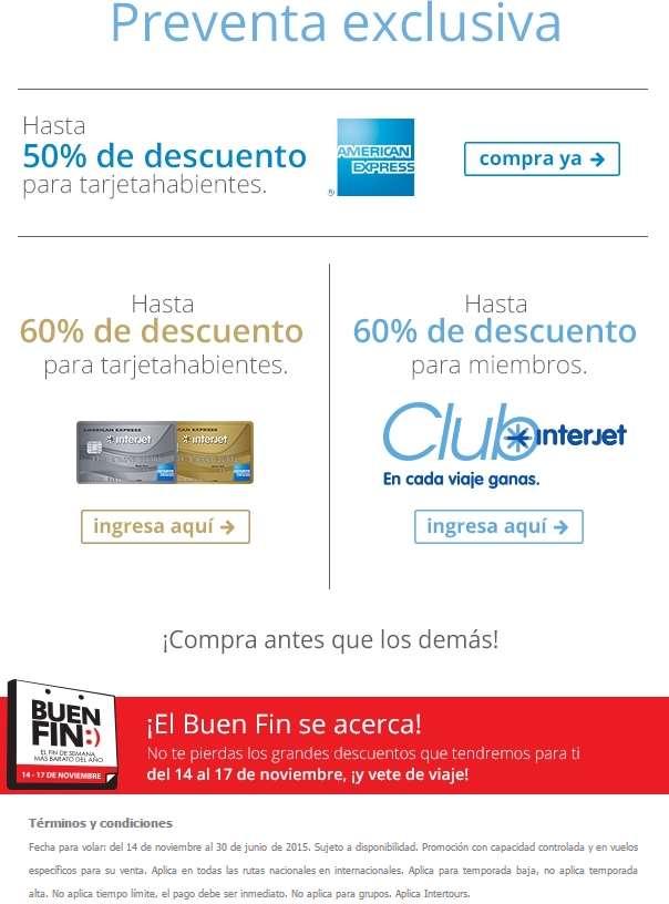 Ofertas del Buen Fin 2014 en Interjet: hasta 50% de descuento