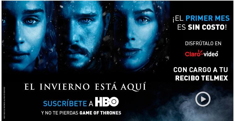 Claro Video: 1er mes de HBO Gratis (para que veas GOT)